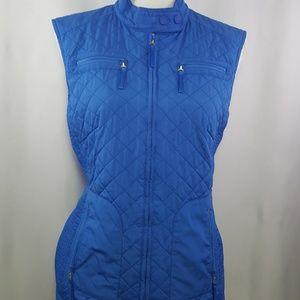 B/A/S/L/E/R Women's Blue Quilted Zip Front Vest
